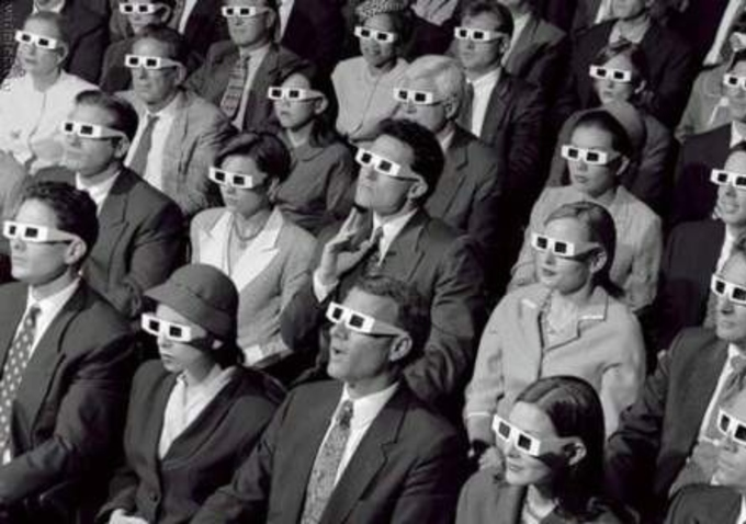 white people at movies