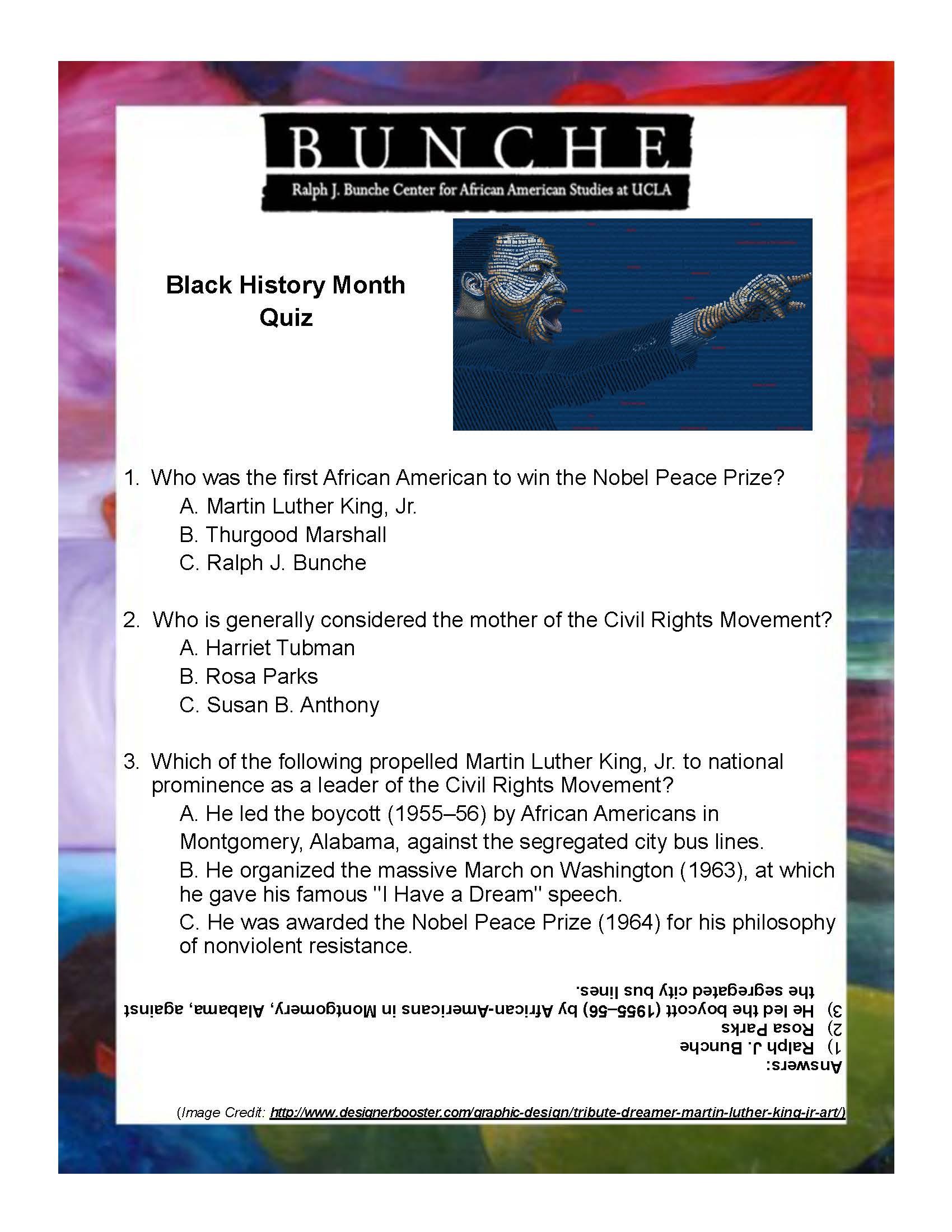 Black History Month 2016 Quiz